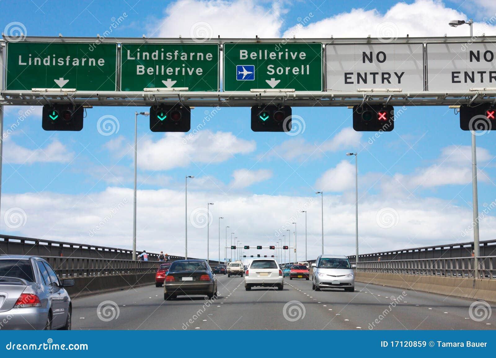 Tasman trafik för bro