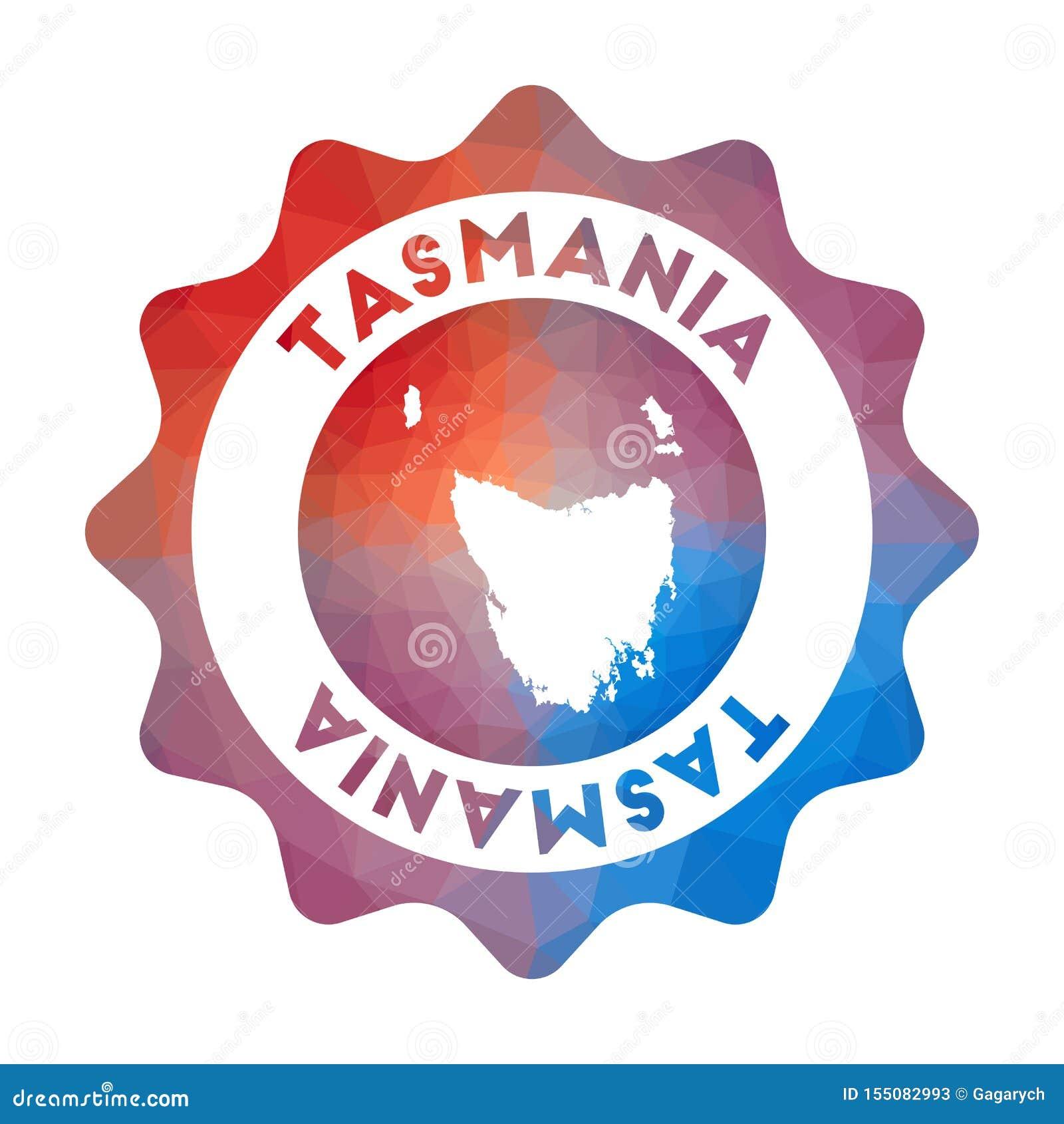 Tasmanien låg poly logo