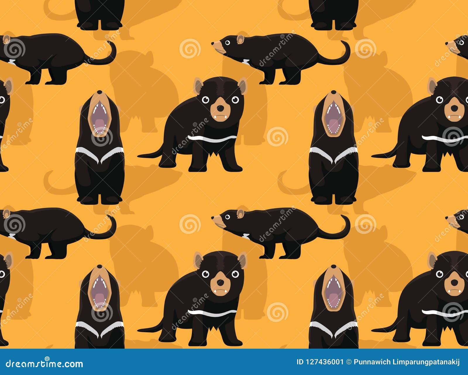 Tasmanischer Teufel-Karikatur-Hintergrund-nahtlose Tapete ...