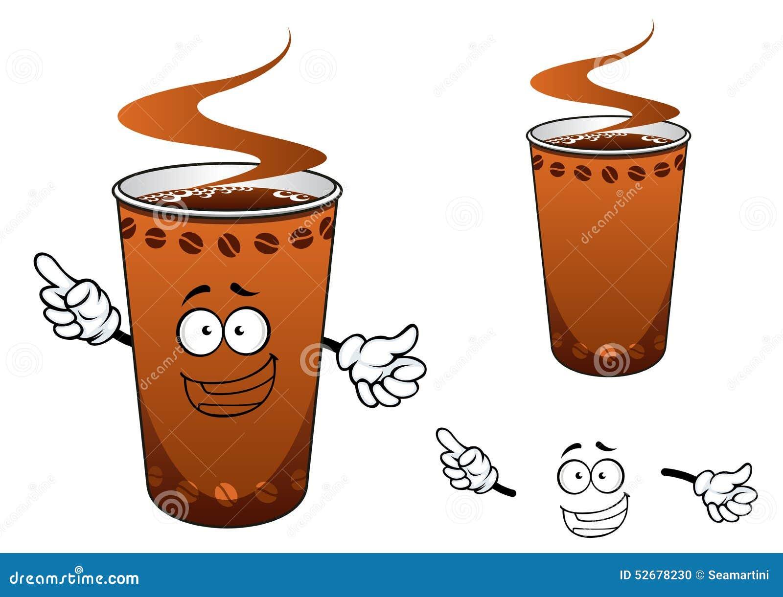 Tasse emporter de personnage de dessin anim de caf illustration de vecteur image 52678230 - Tasse de cafe dessin ...