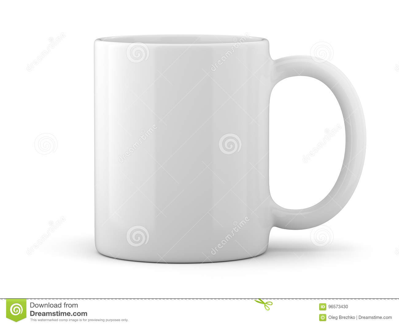 Tasse blanche d isolement