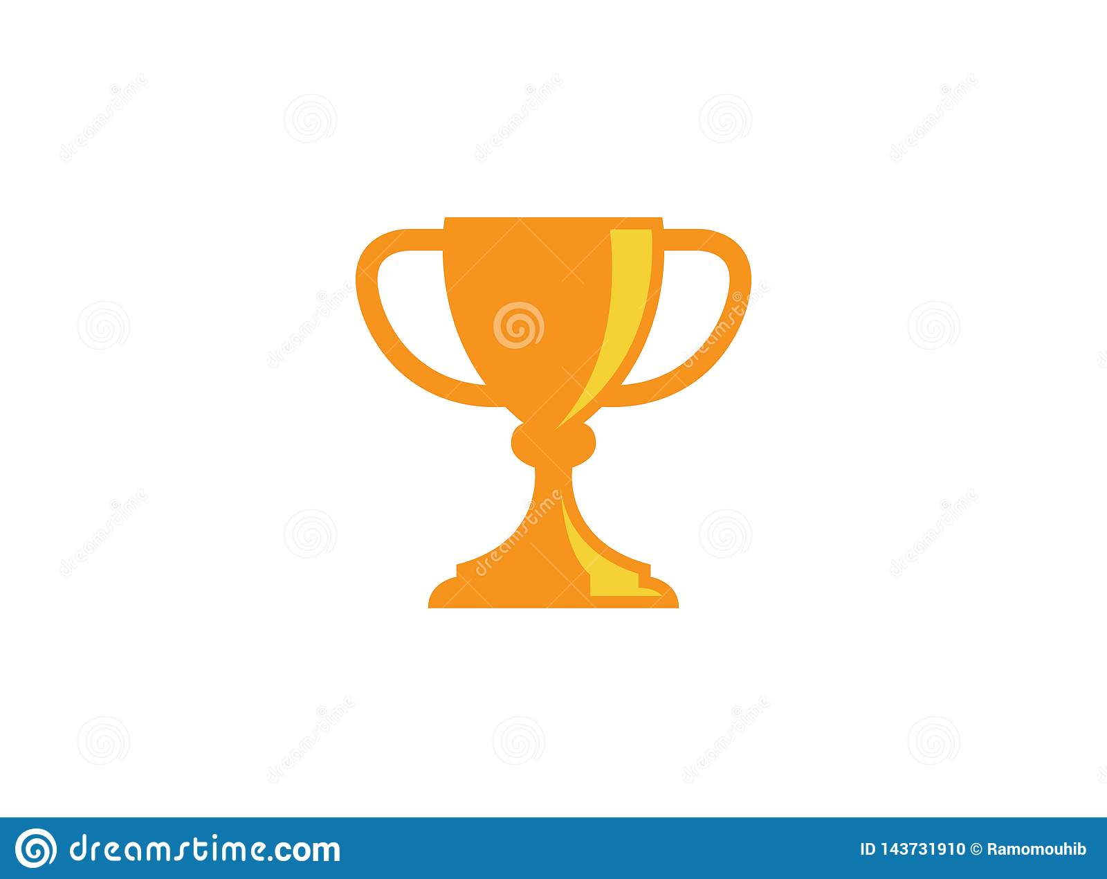 Tasse d or de trophée pour le label de cérémonie de championnat de sports de gagnant, premier prix de place de champion, une vict