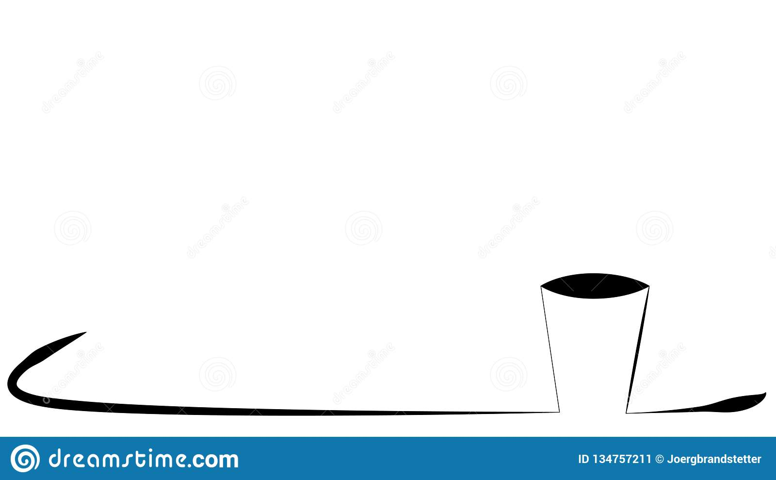 Tasse de cadre café de schéma