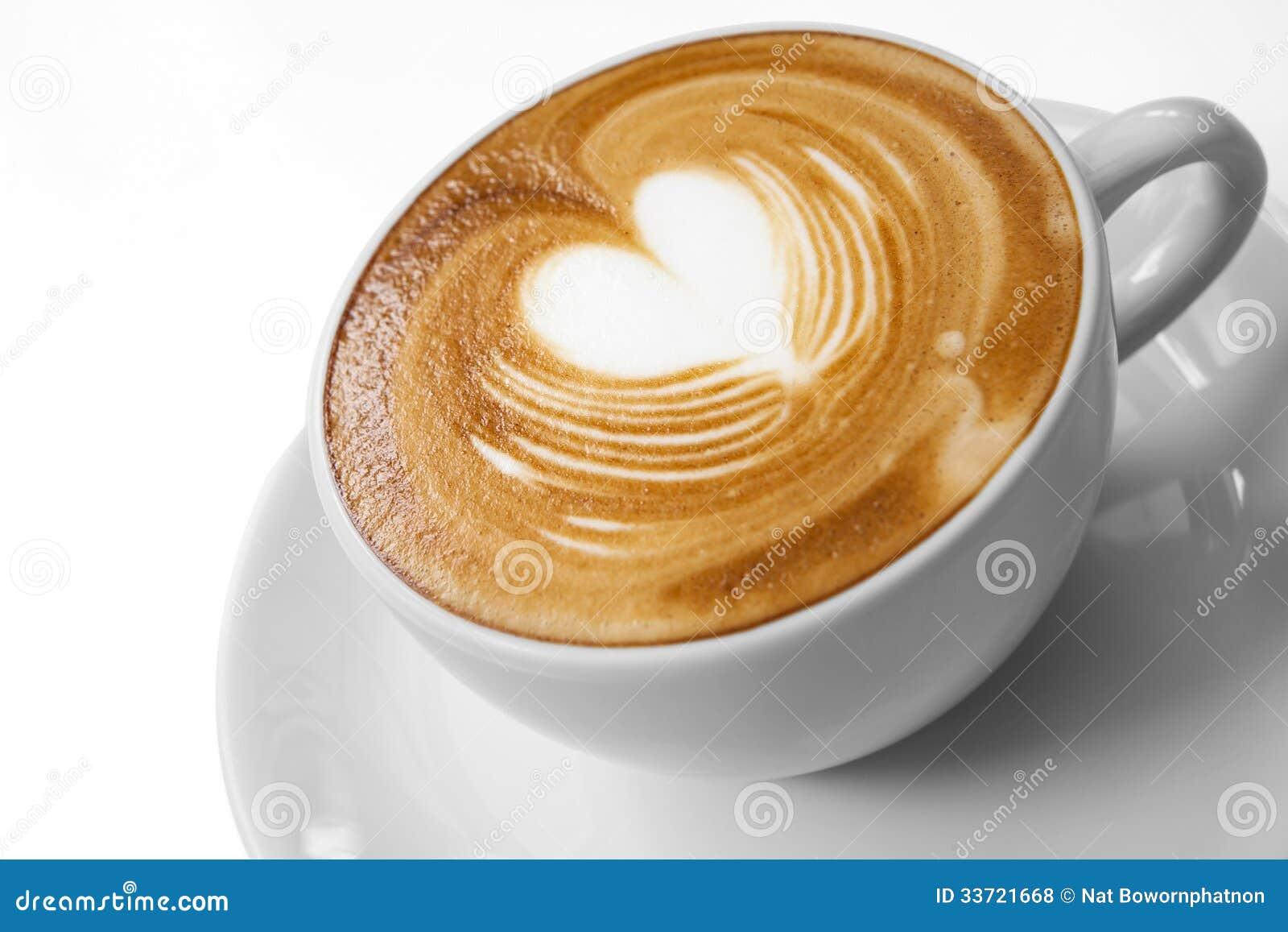 Tasse de café avec amour