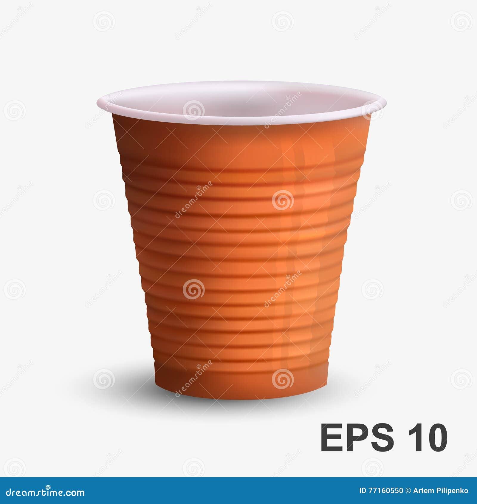 Tasse de café brune en plastique