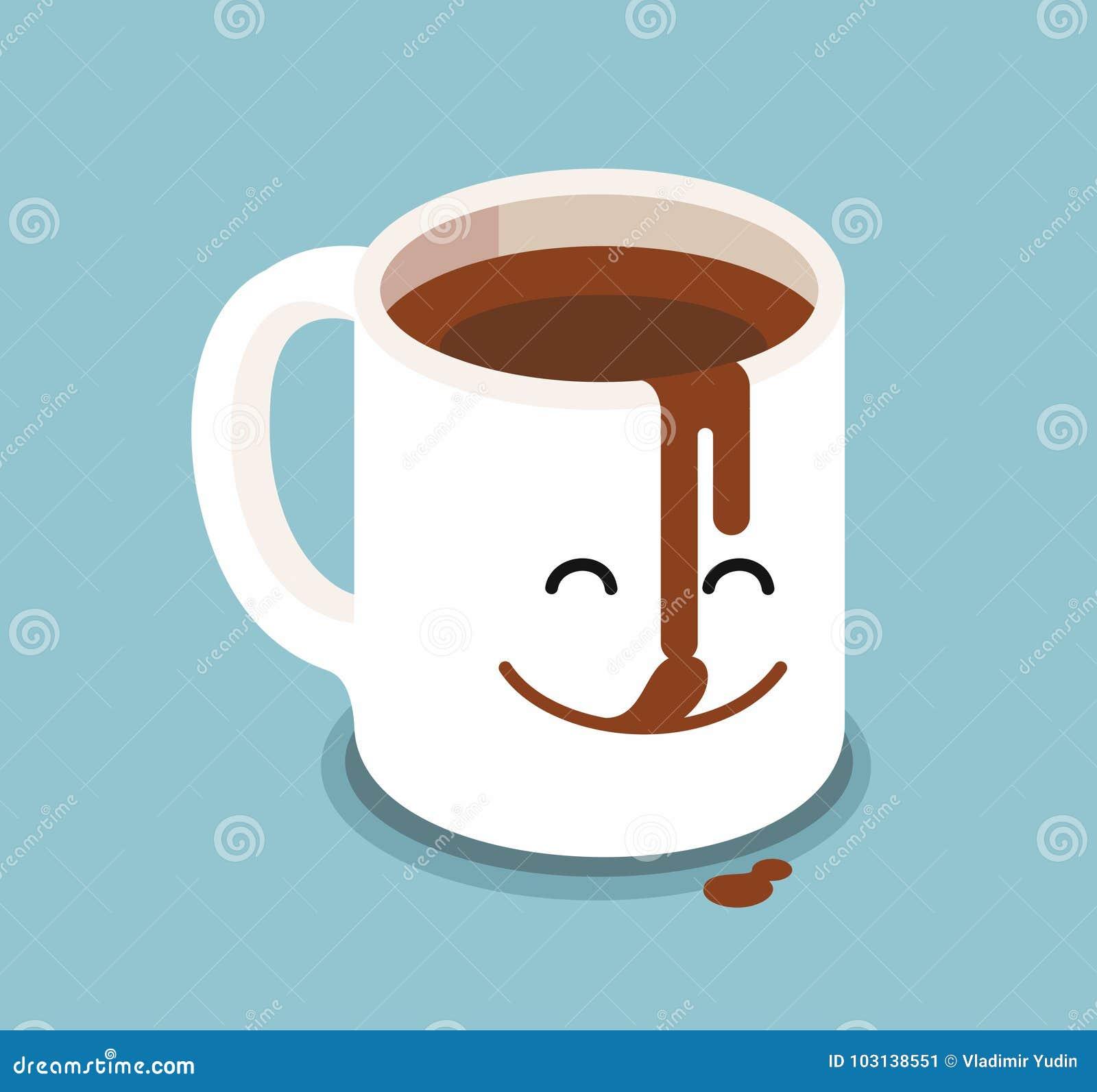 Tasse de caf dr le de personnages de dessin anim - Dessin tasse a cafe ...