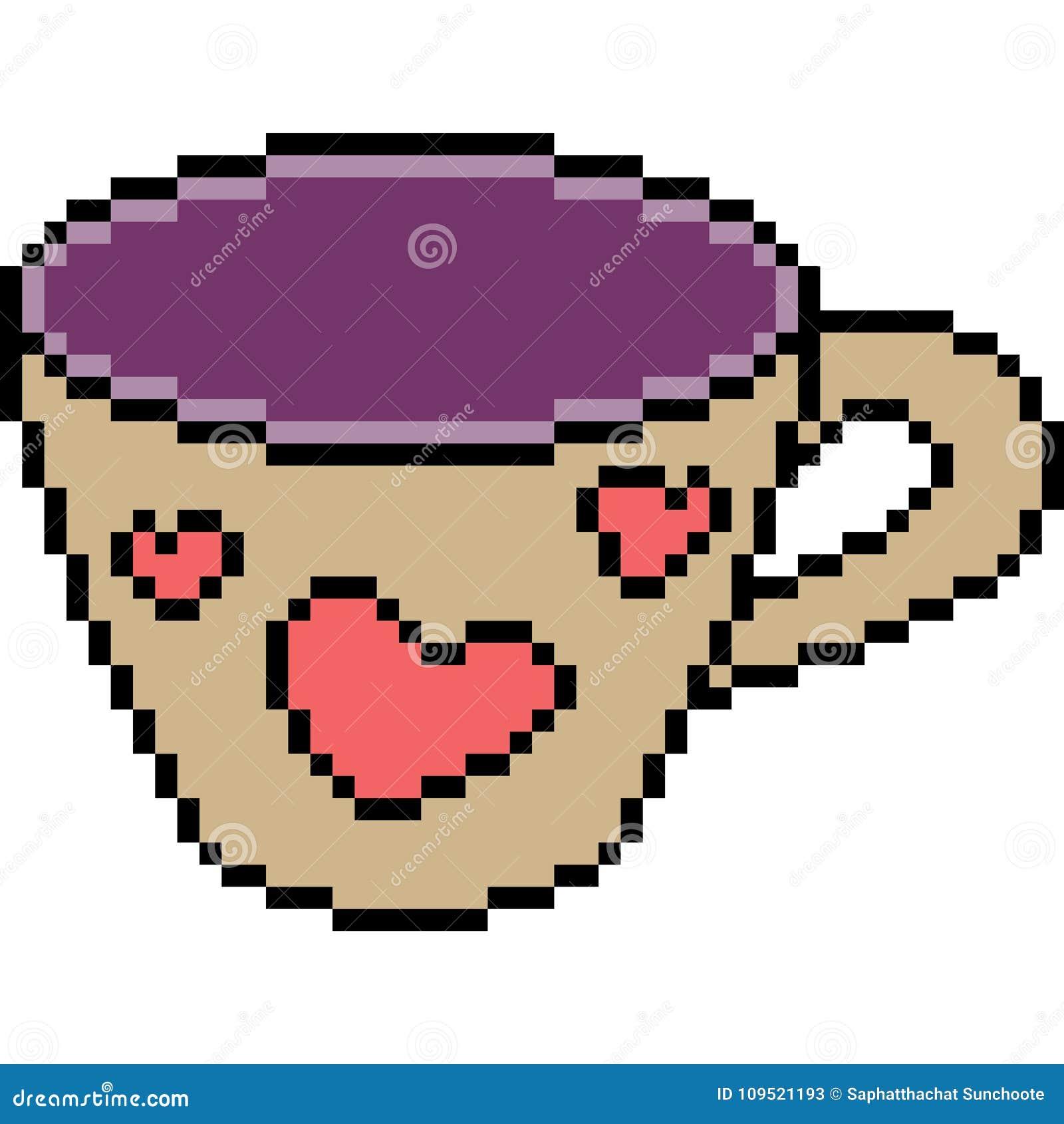 Tasse De Coeur Dart De Pixel De Vecteur Illustration De
