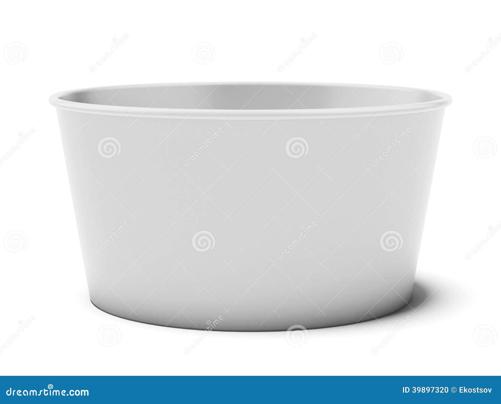 Tasse de papier blanc