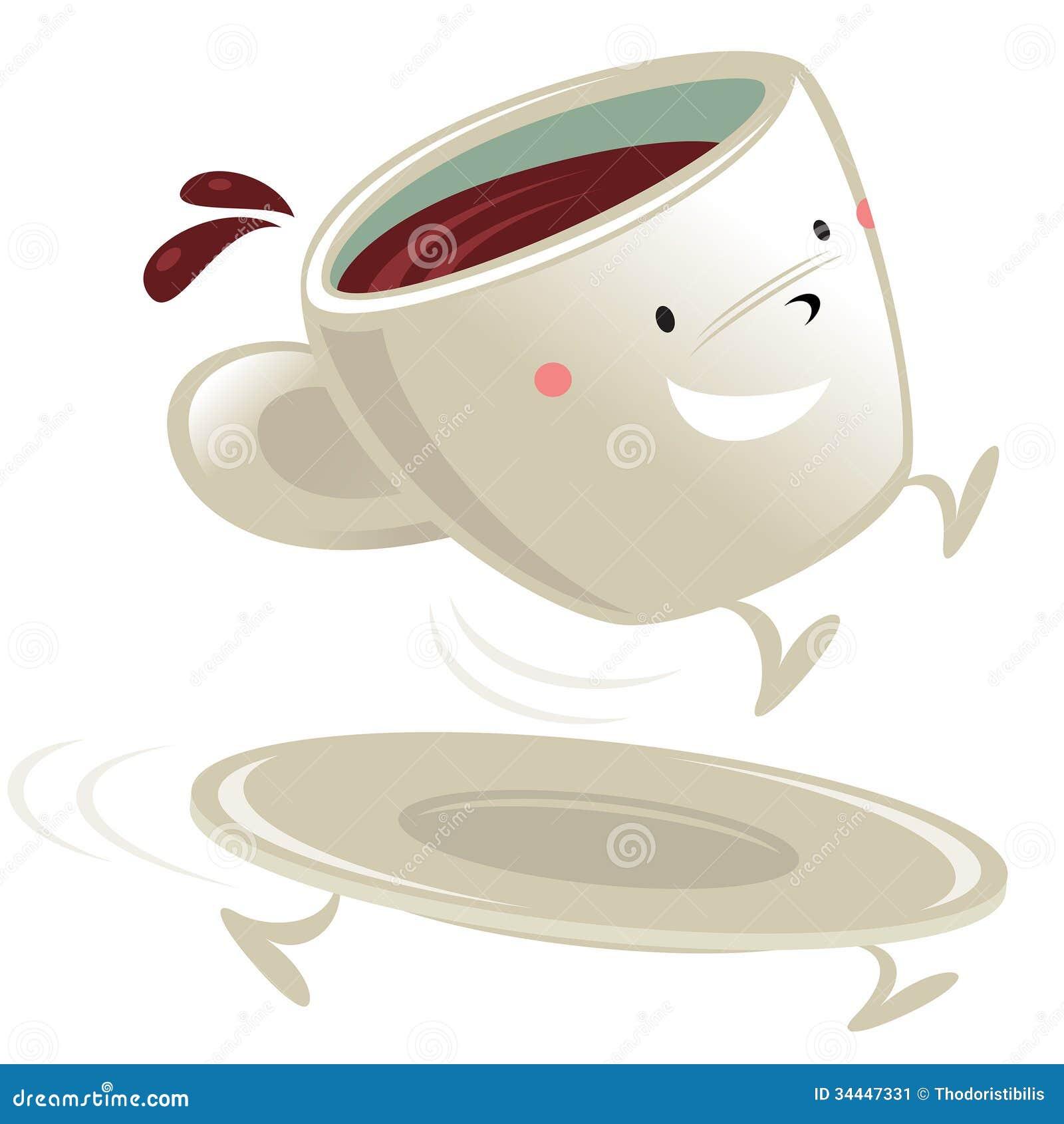 Tasse de personnage de dessin anim de caf image stock image 34447331 - Tasse de cafe dessin ...