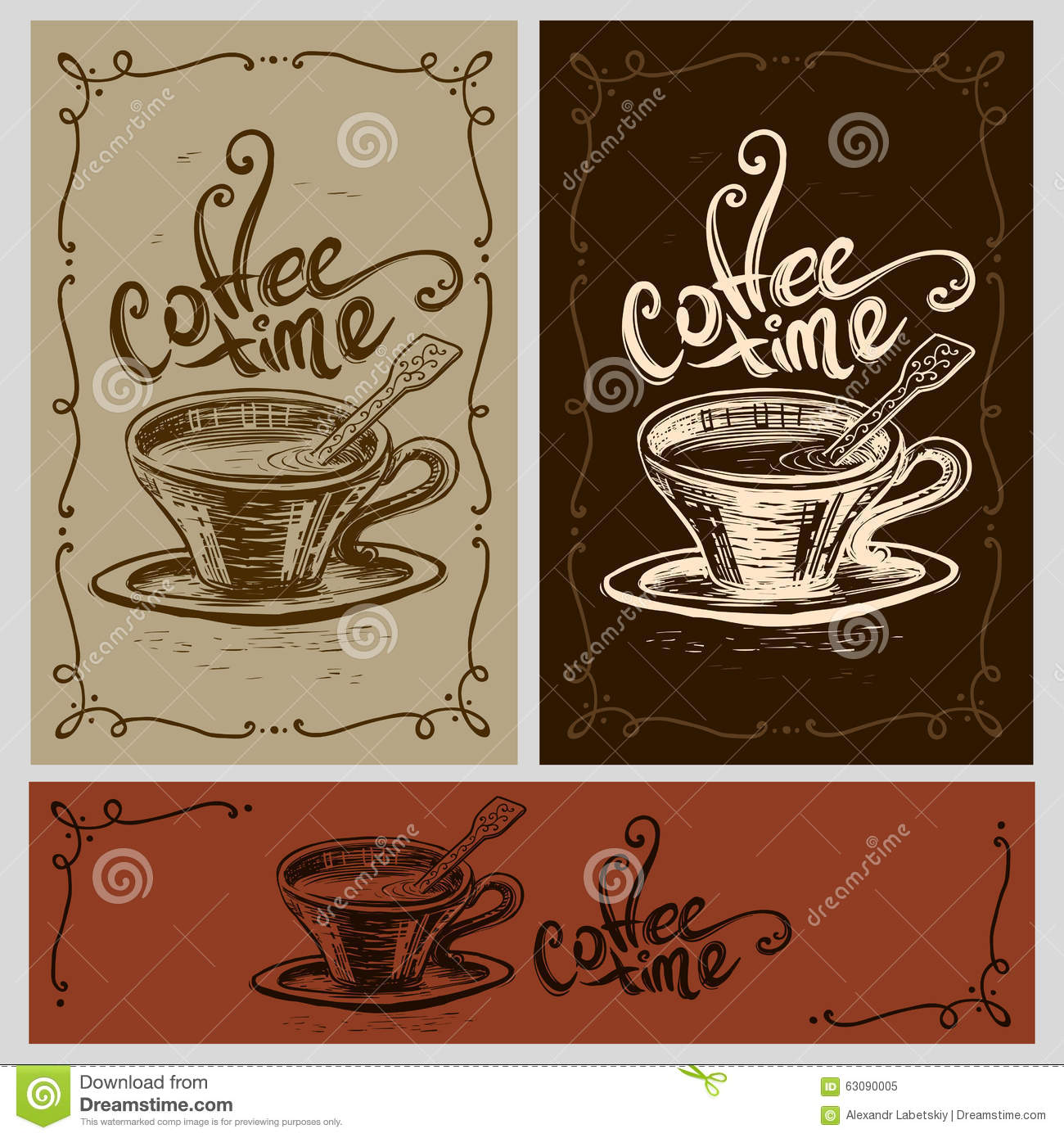 Download Tasse de temps de café illustration de vecteur. Illustration du rupture - 63090005
