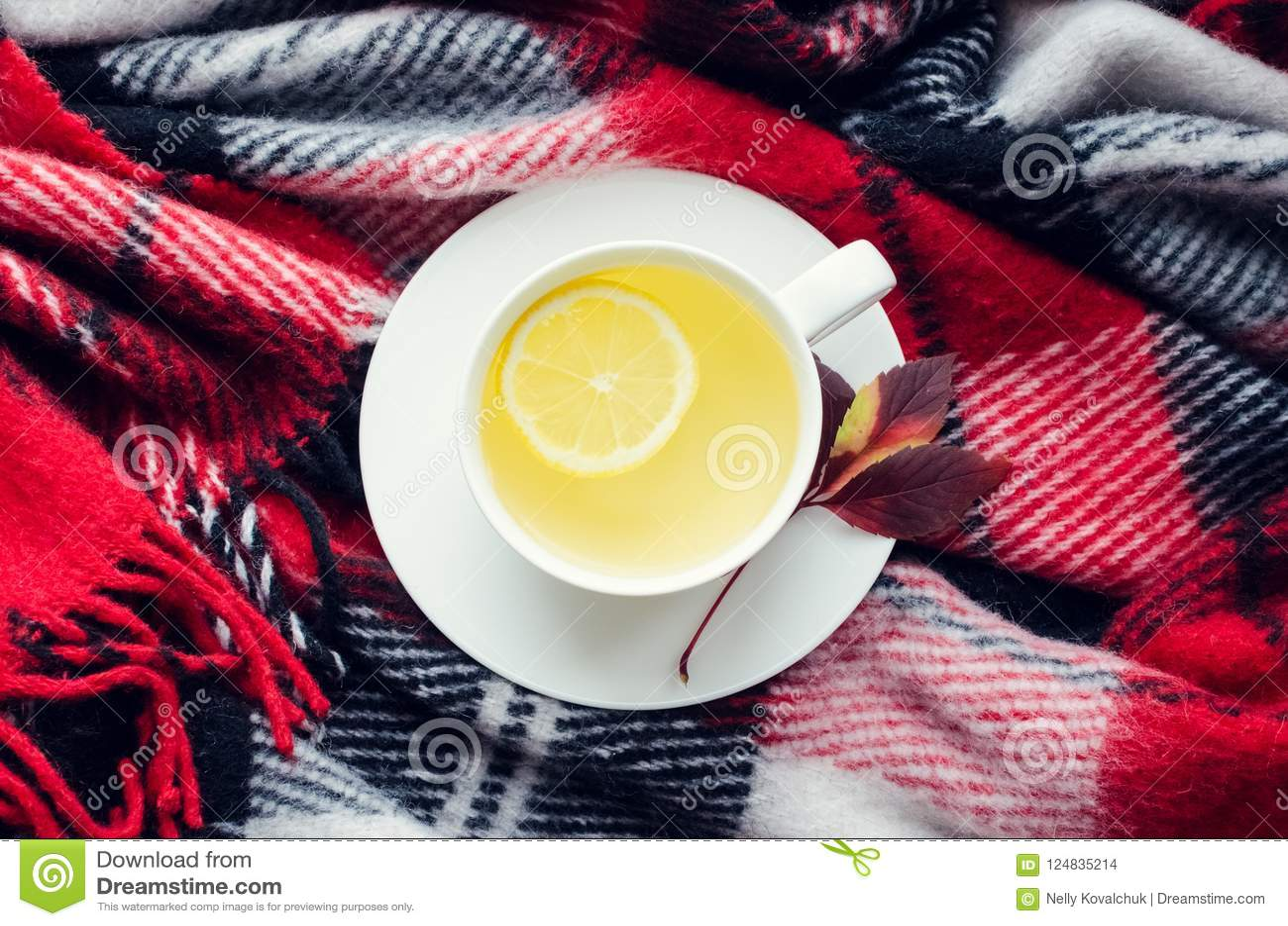 Tasse de thé d automne