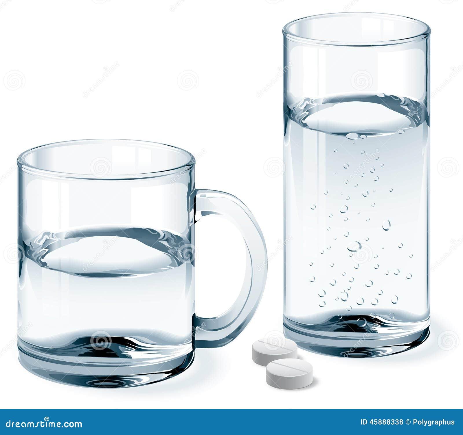tasse et verre de l 39 eau photo stock image 45888338. Black Bedroom Furniture Sets. Home Design Ideas