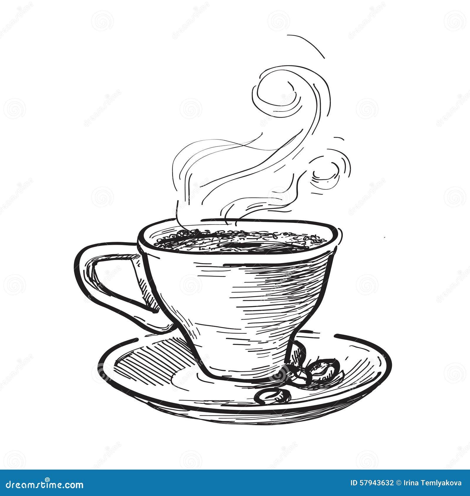 Tasse Kaffee Hand Gezeichnete Abbildung Vektor Abbildung