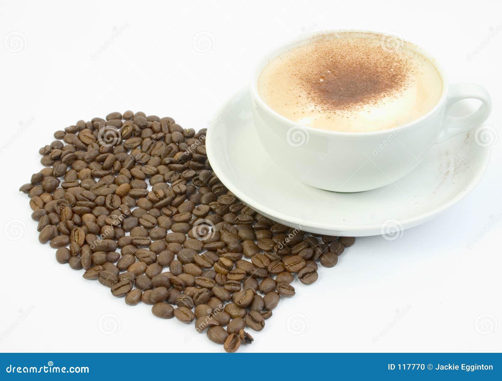 Tasse Kaffee mit großem Innerem