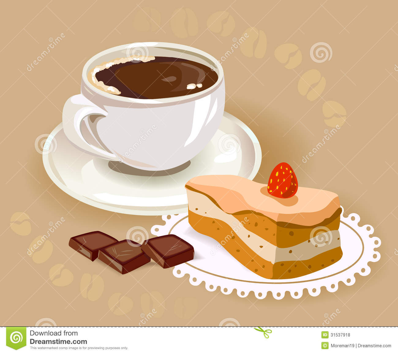 Cake And Coffee Clipart