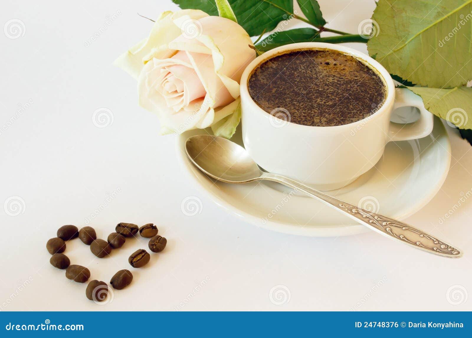 Tasse Kaffee und stieg
