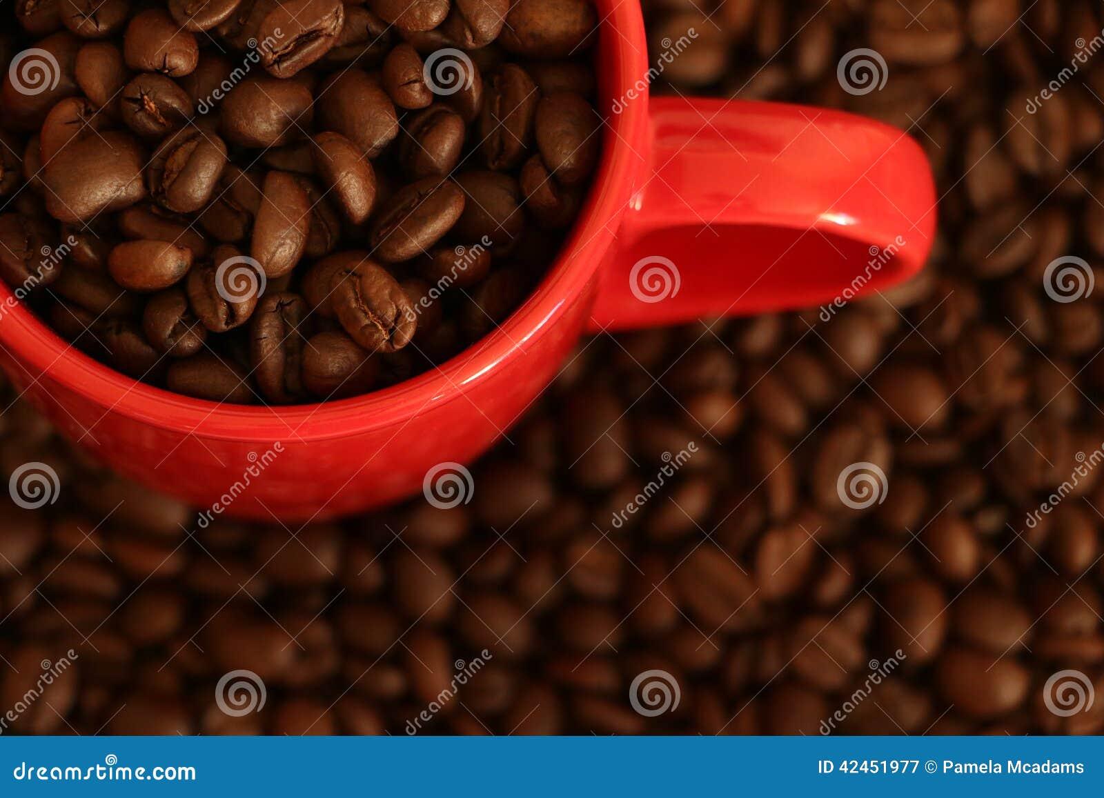 Tasse Kaffeebohnen