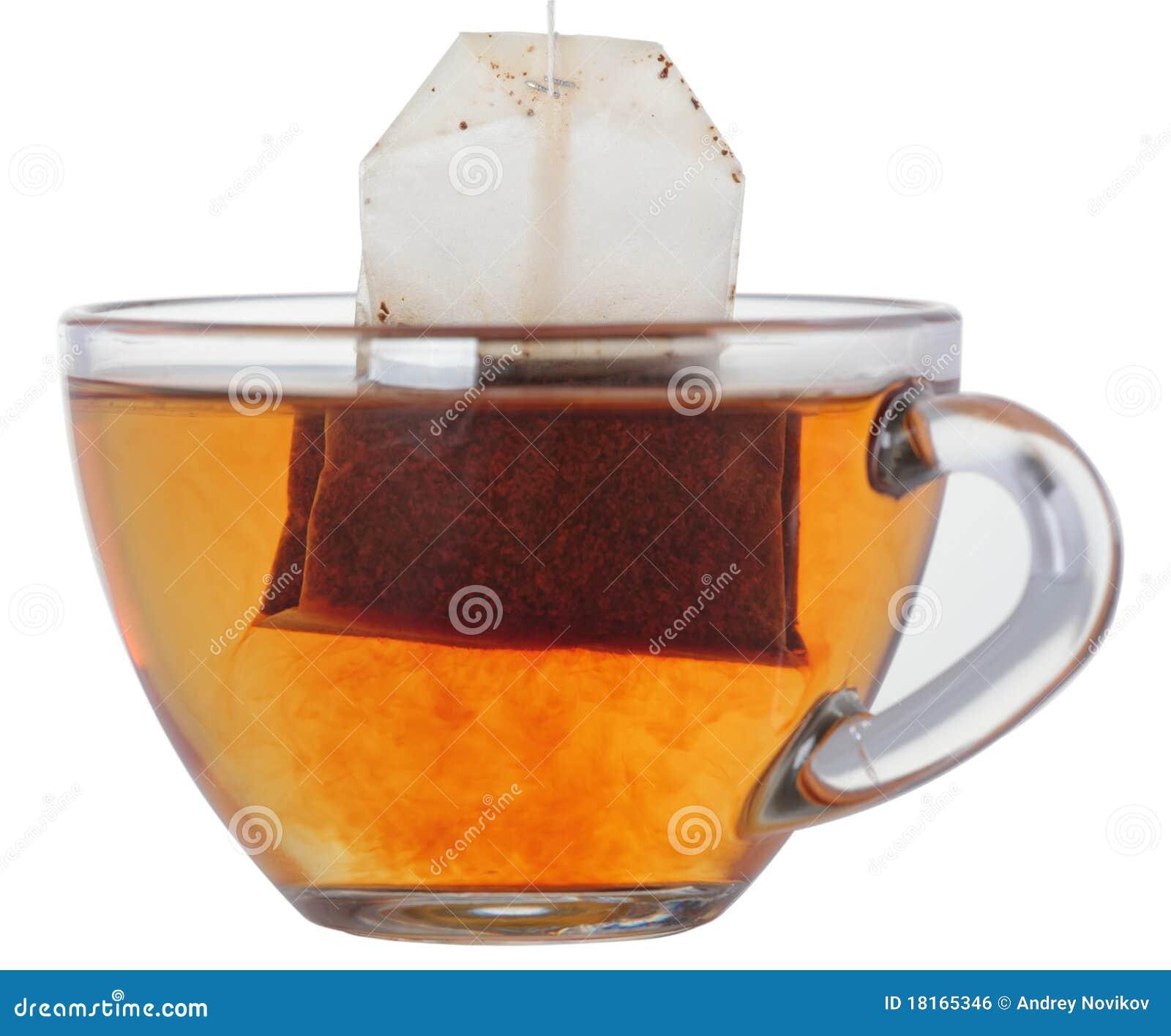 tasse tee mit teebeutel stockfoto bild von glas teabag 18165346. Black Bedroom Furniture Sets. Home Design Ideas