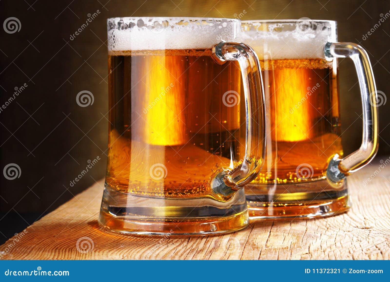 Tasses de bière