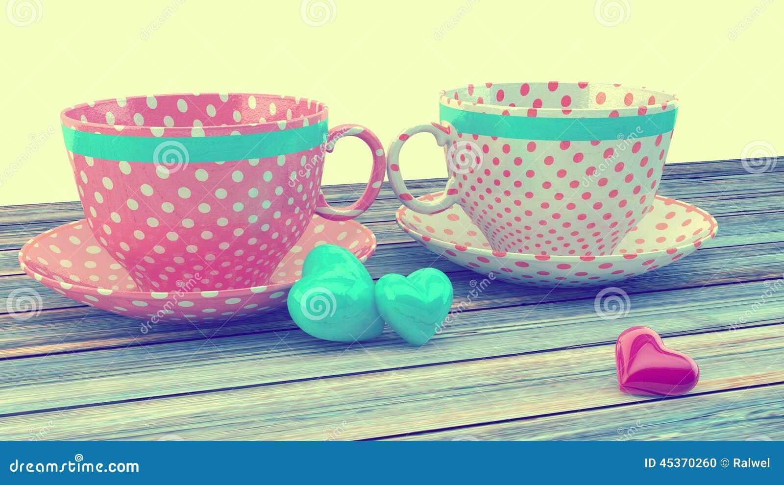 Tasses de vintage