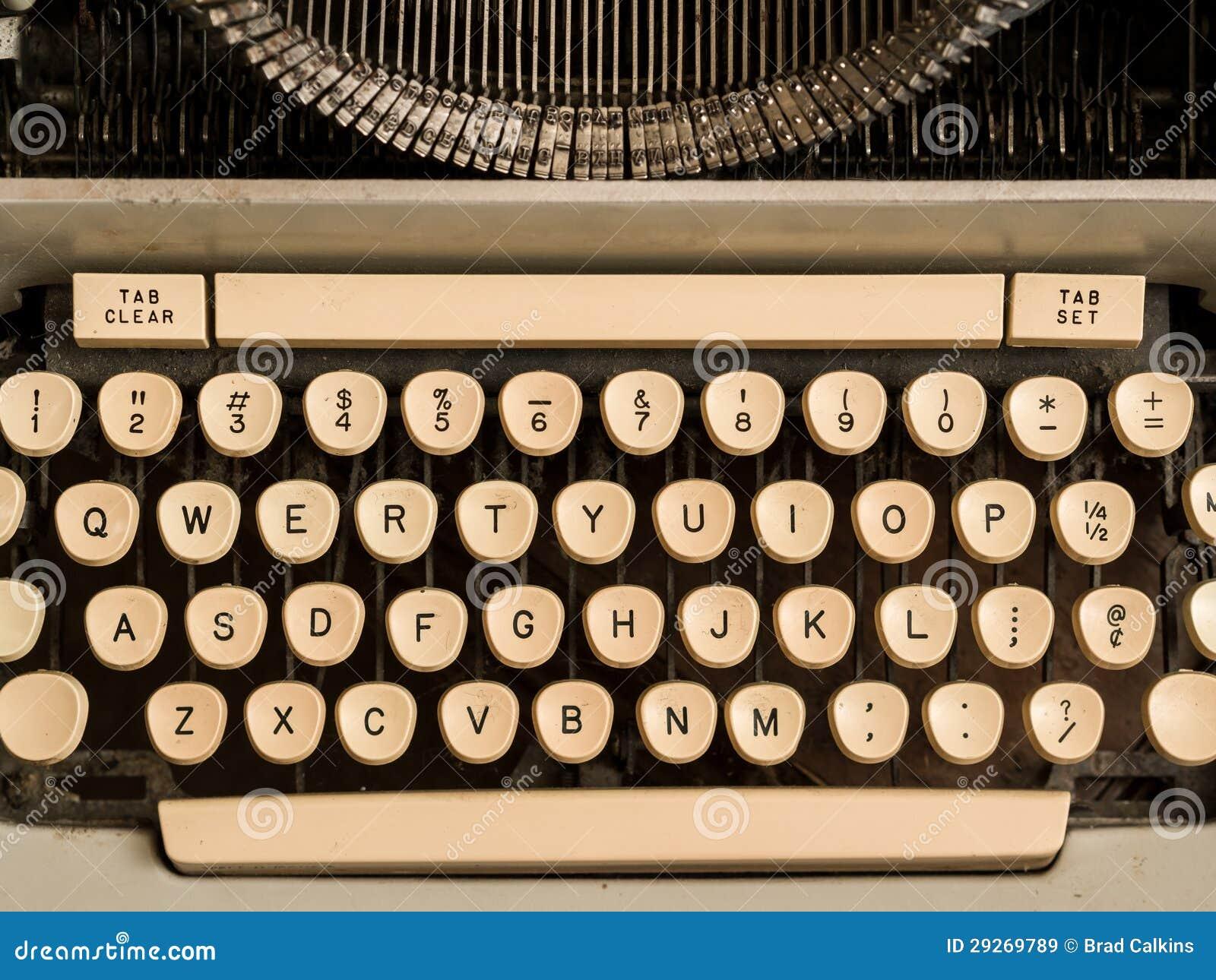 tasti della macchina da scrivere immagini stock libere da
