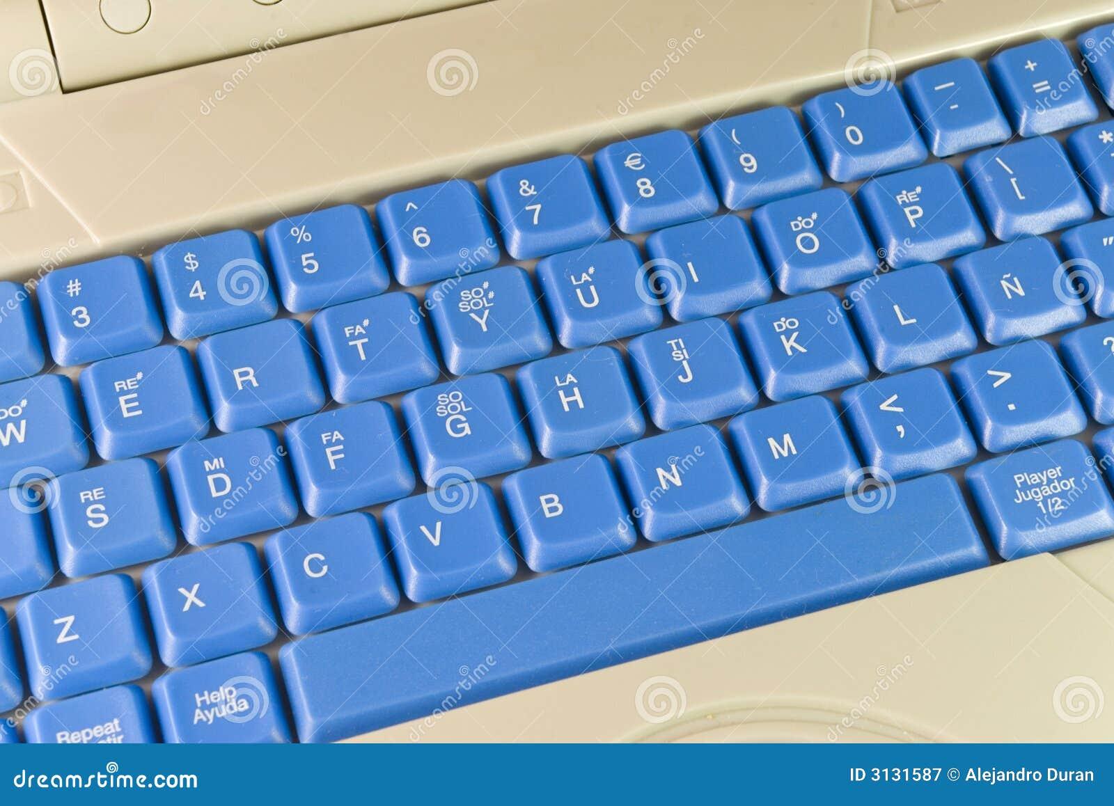 Tastiera blu