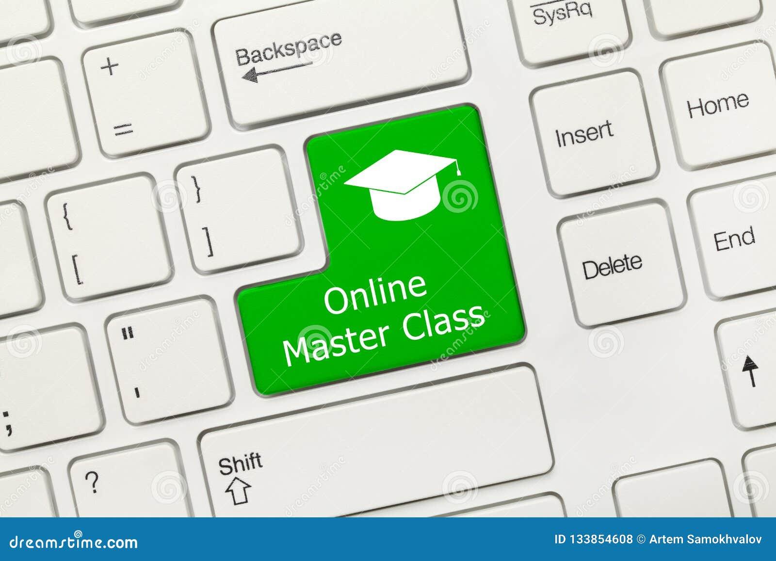 Tastiera concettuale bianca - chiave verde della classe matrice online