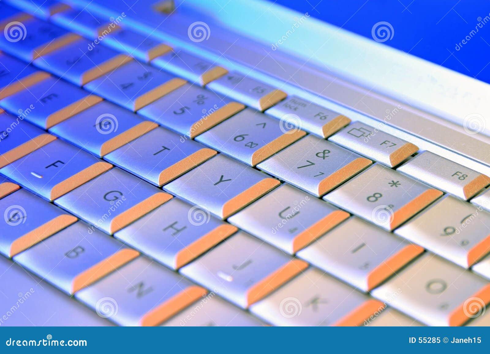 Tastiera del computer portatile del calcolatore