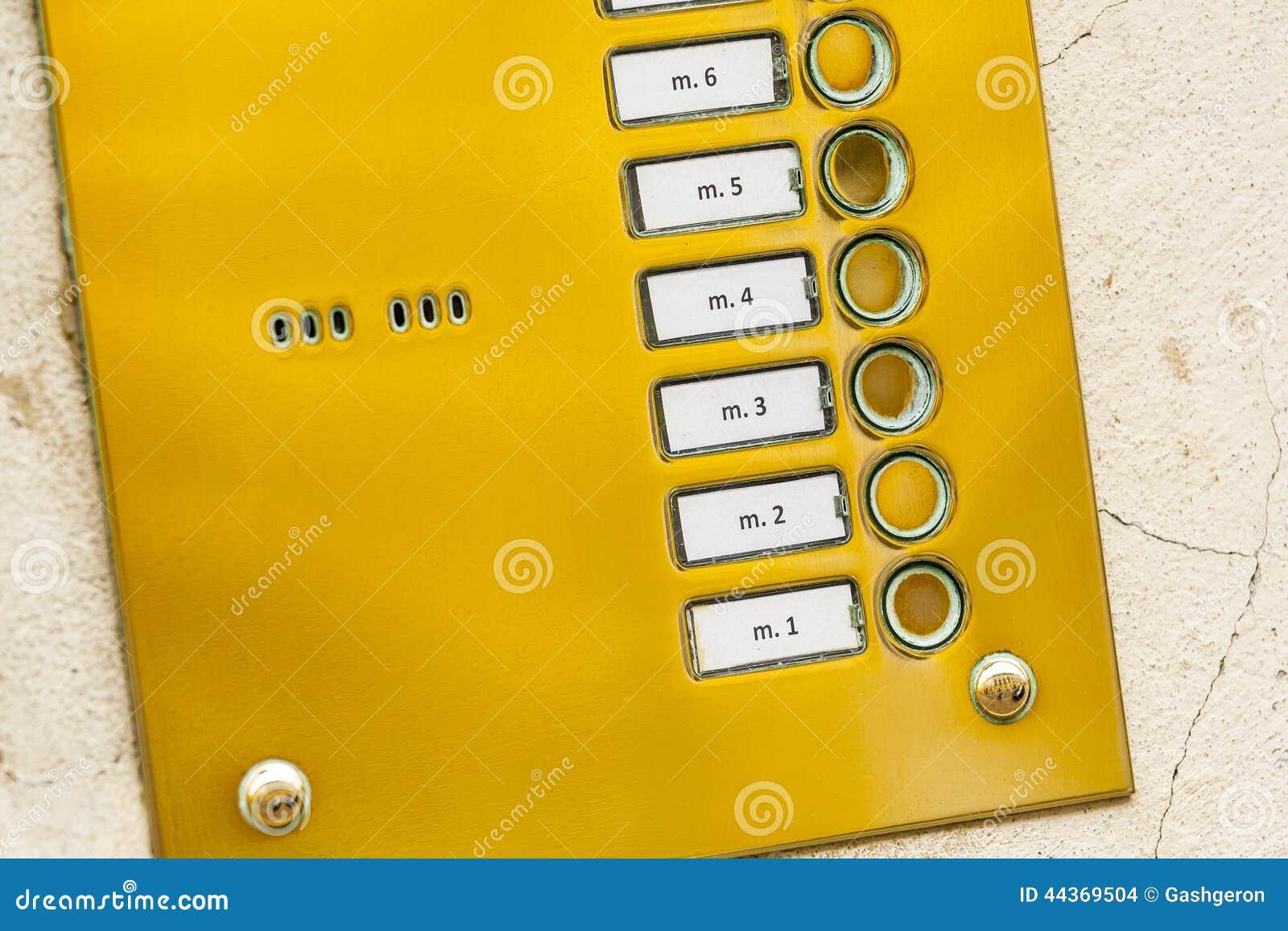 Tastiera del metallo del citofono