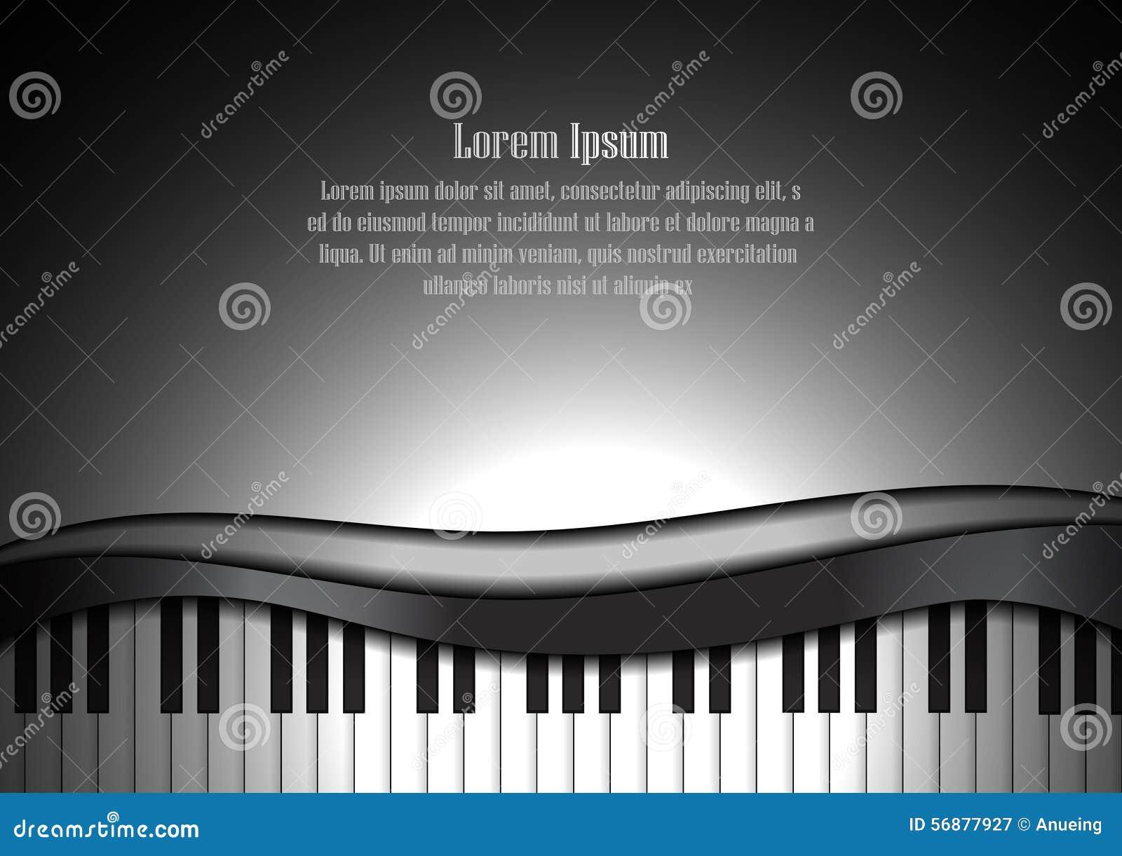 Tastiera e spazio di piano per il fondo del testo