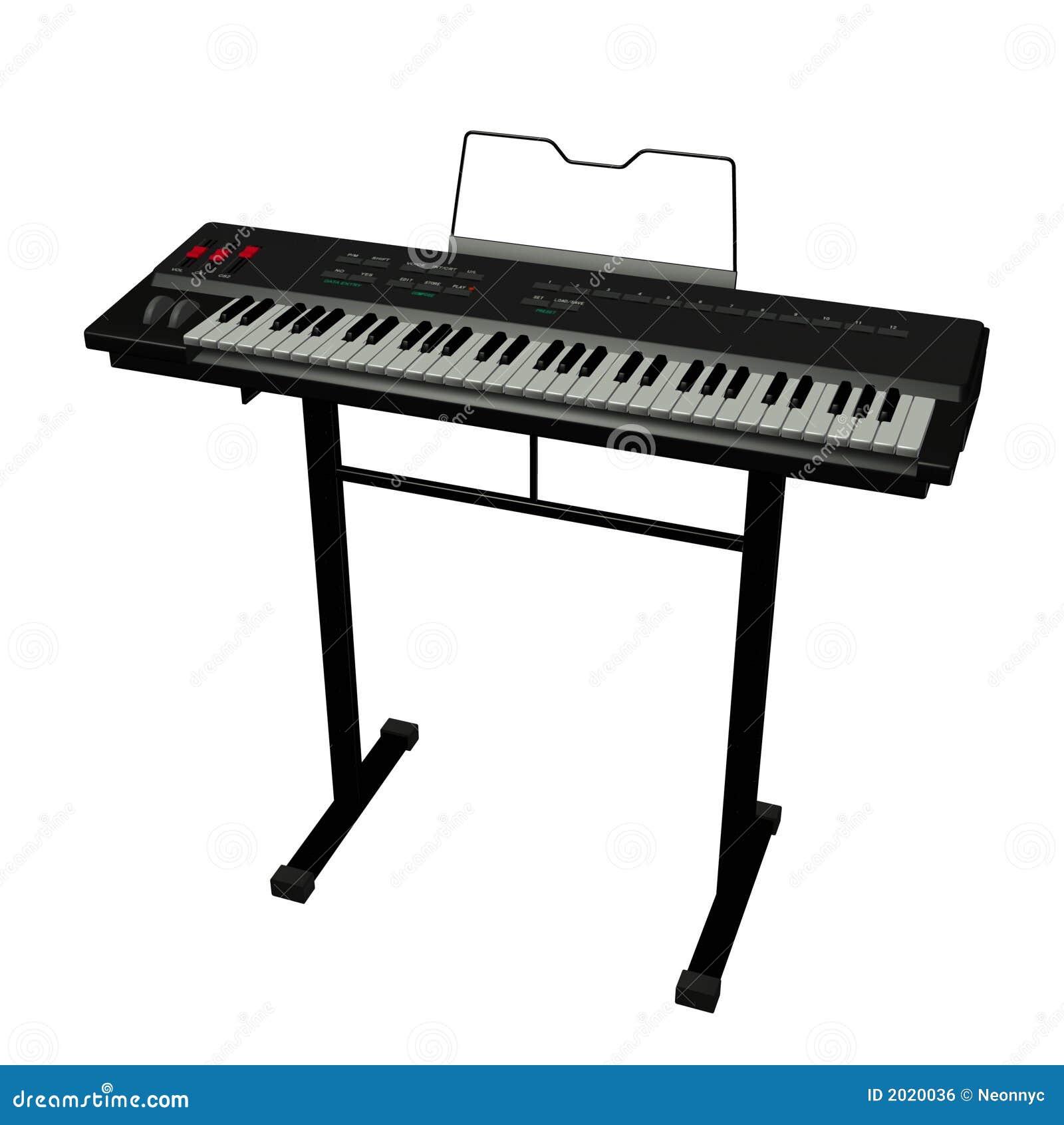 Tastiera elettrica immagine stock libera da diritti for Strumento online gratuito piano piano