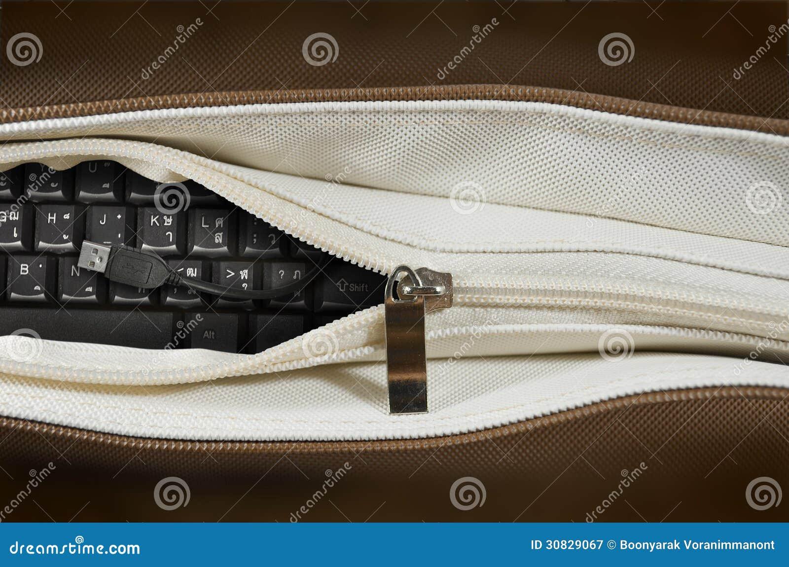 Tastiera in una borsa