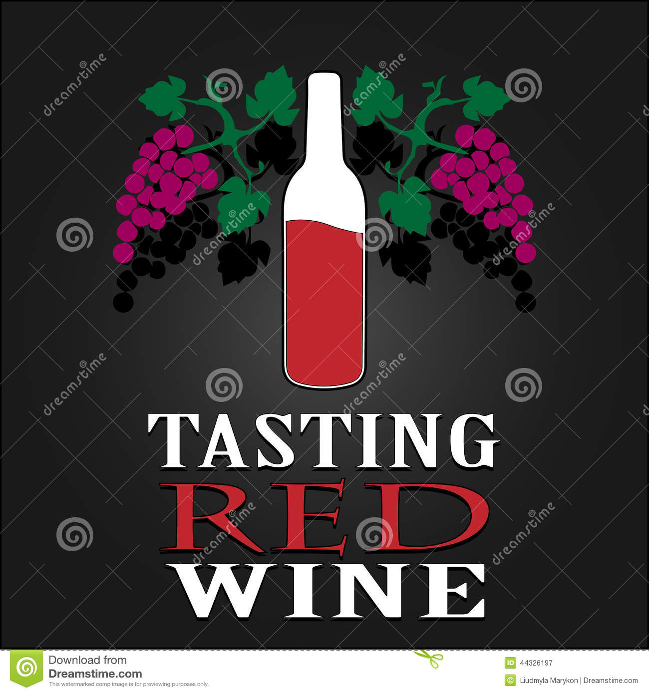 Tasting Red Wine Poster. Vector Illustration Stock Vector - Image ...