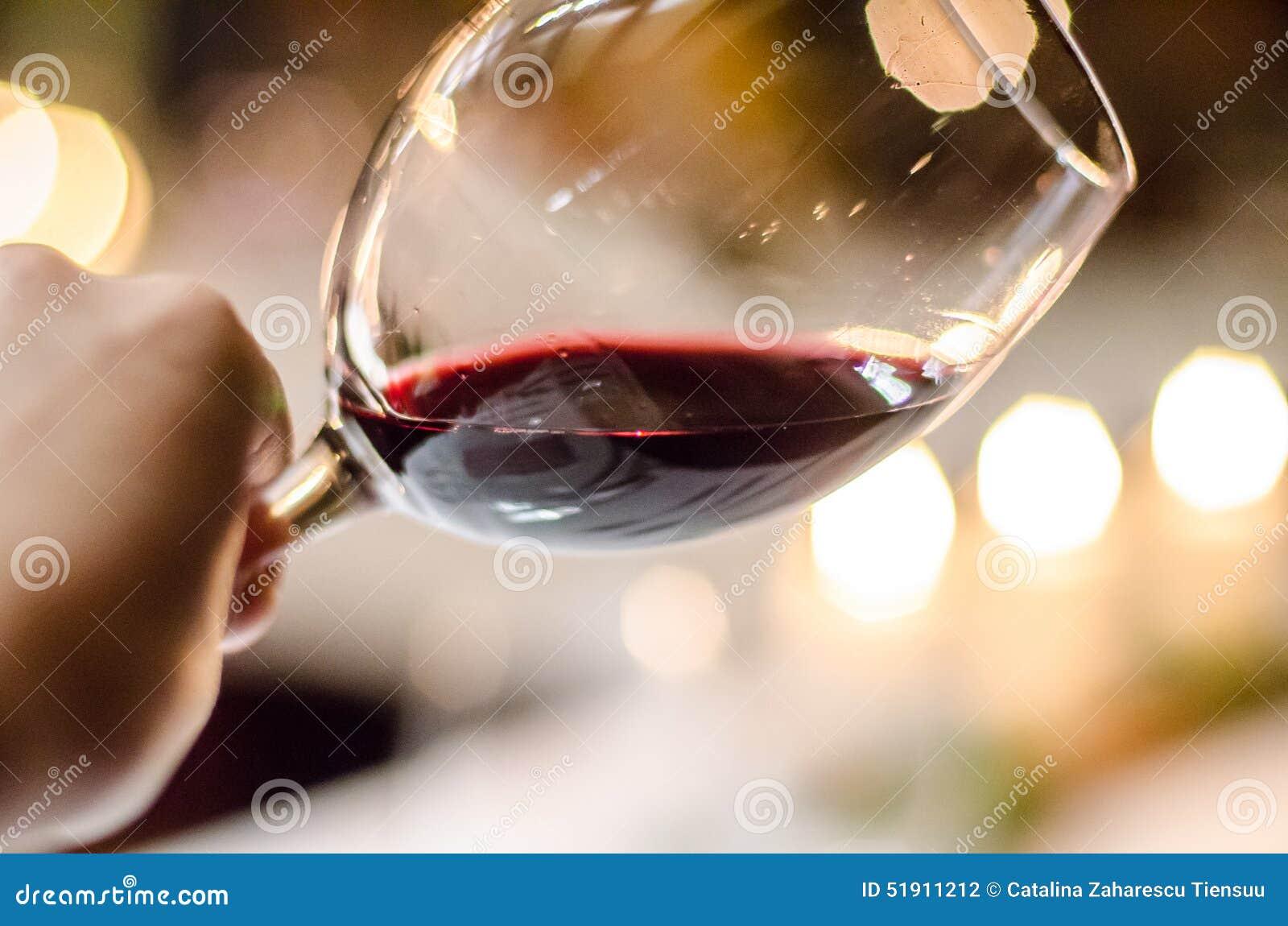Tasting red wine