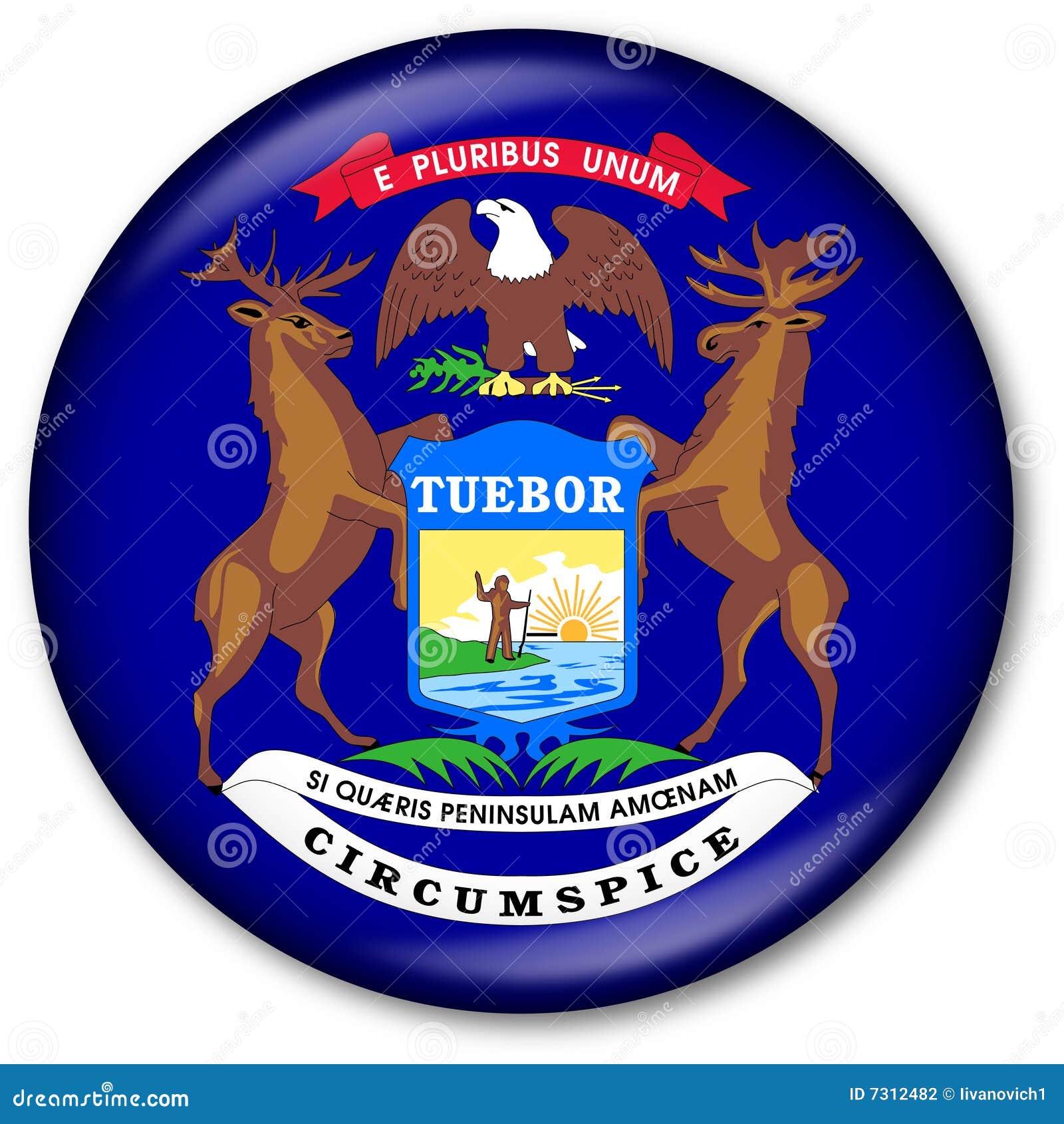 Tasto della bandierina degli stati del Michigan