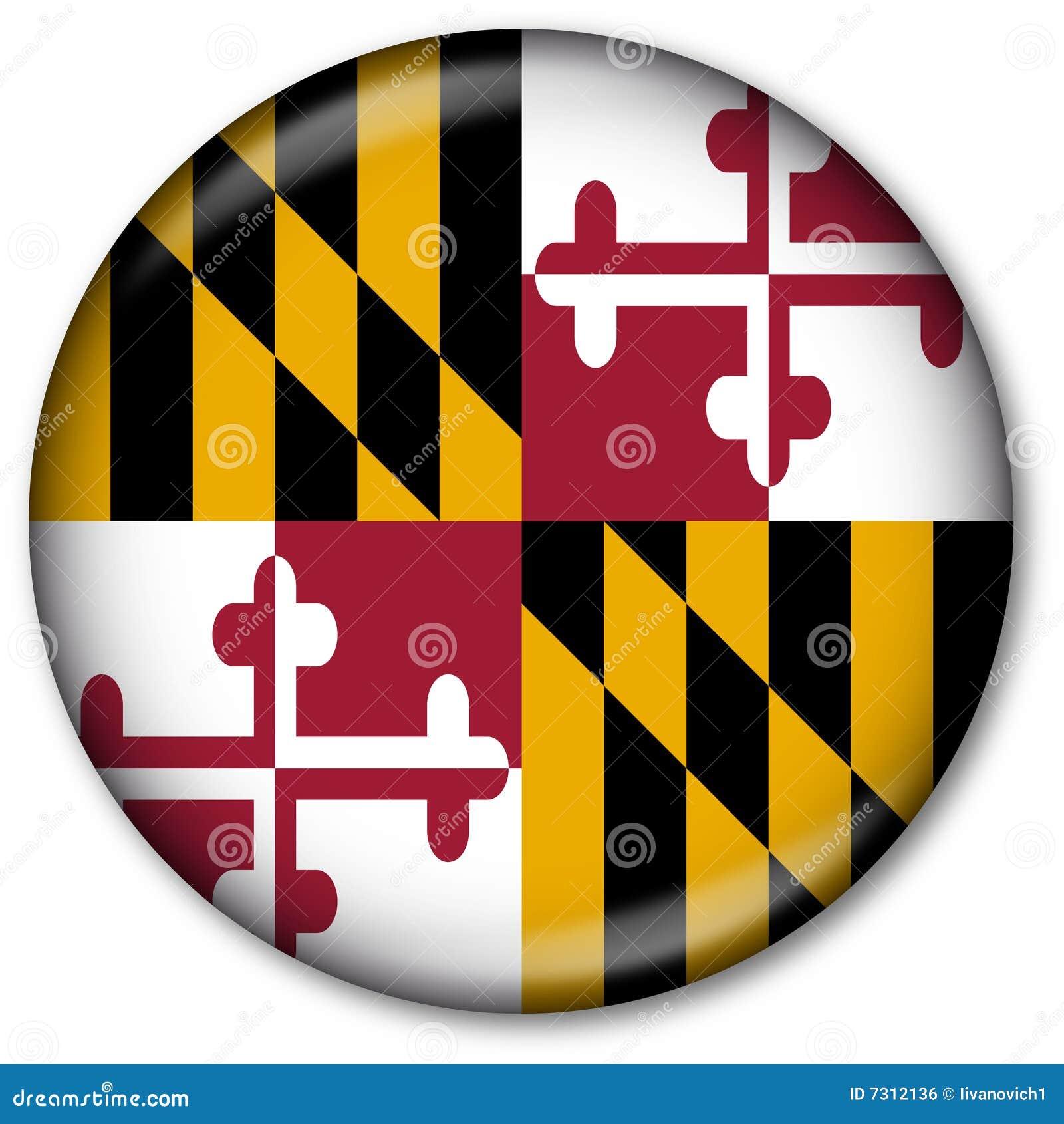Tasto della bandierina della condizione del Maryland