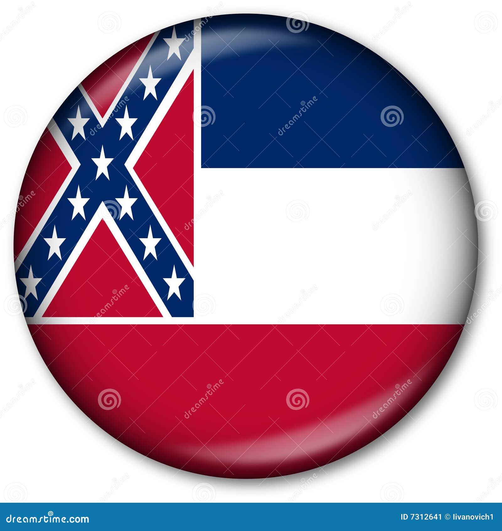 Tasto della bandierina della condizione del Mississippi