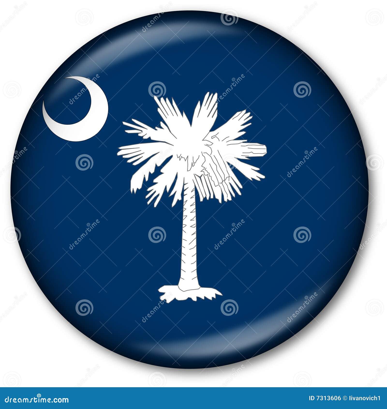 Tasto della bandierina della condizione della Carolina del Sud