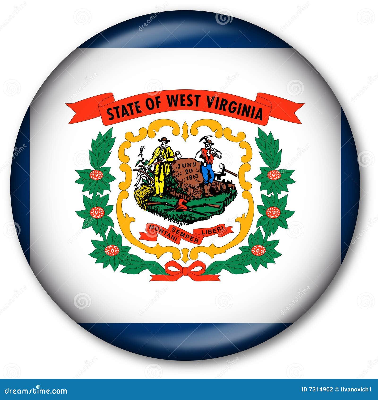 Tasto della bandierina della condizione della Virginia dell Ovest