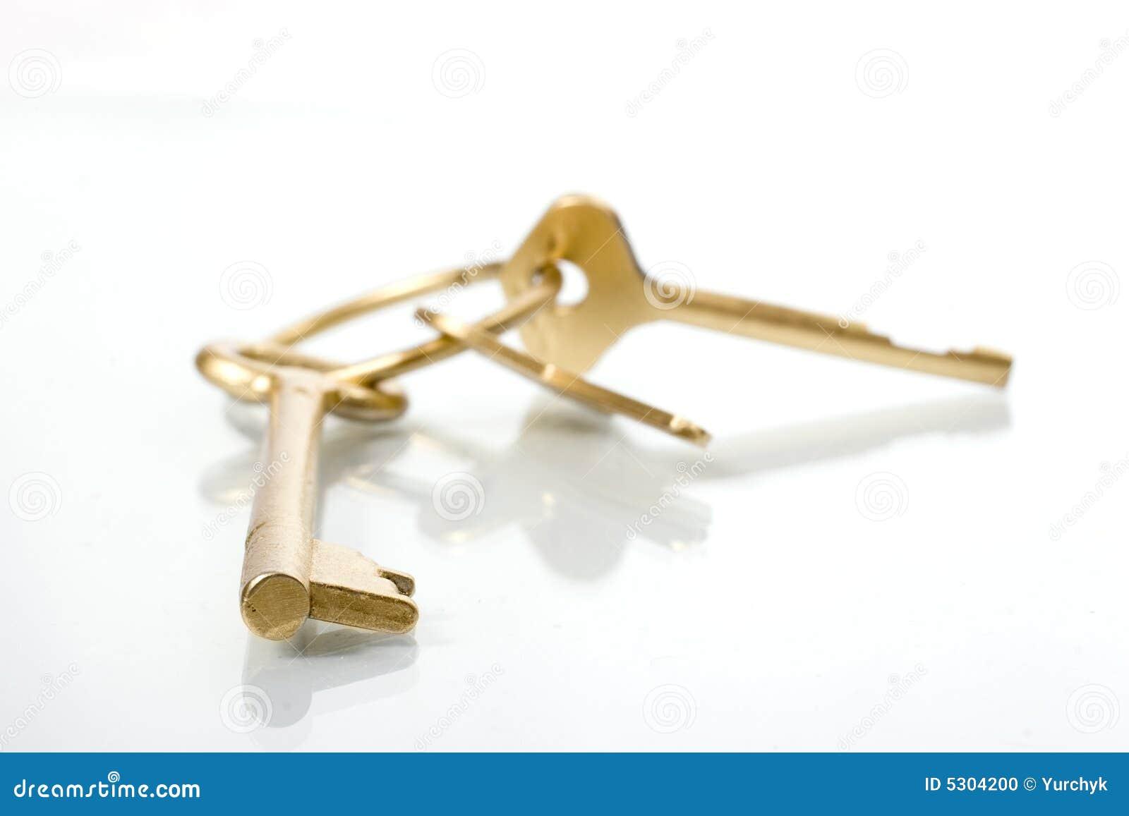 Download Tasto dorato fotografia stock. Immagine di prestito, investimento - 5304200