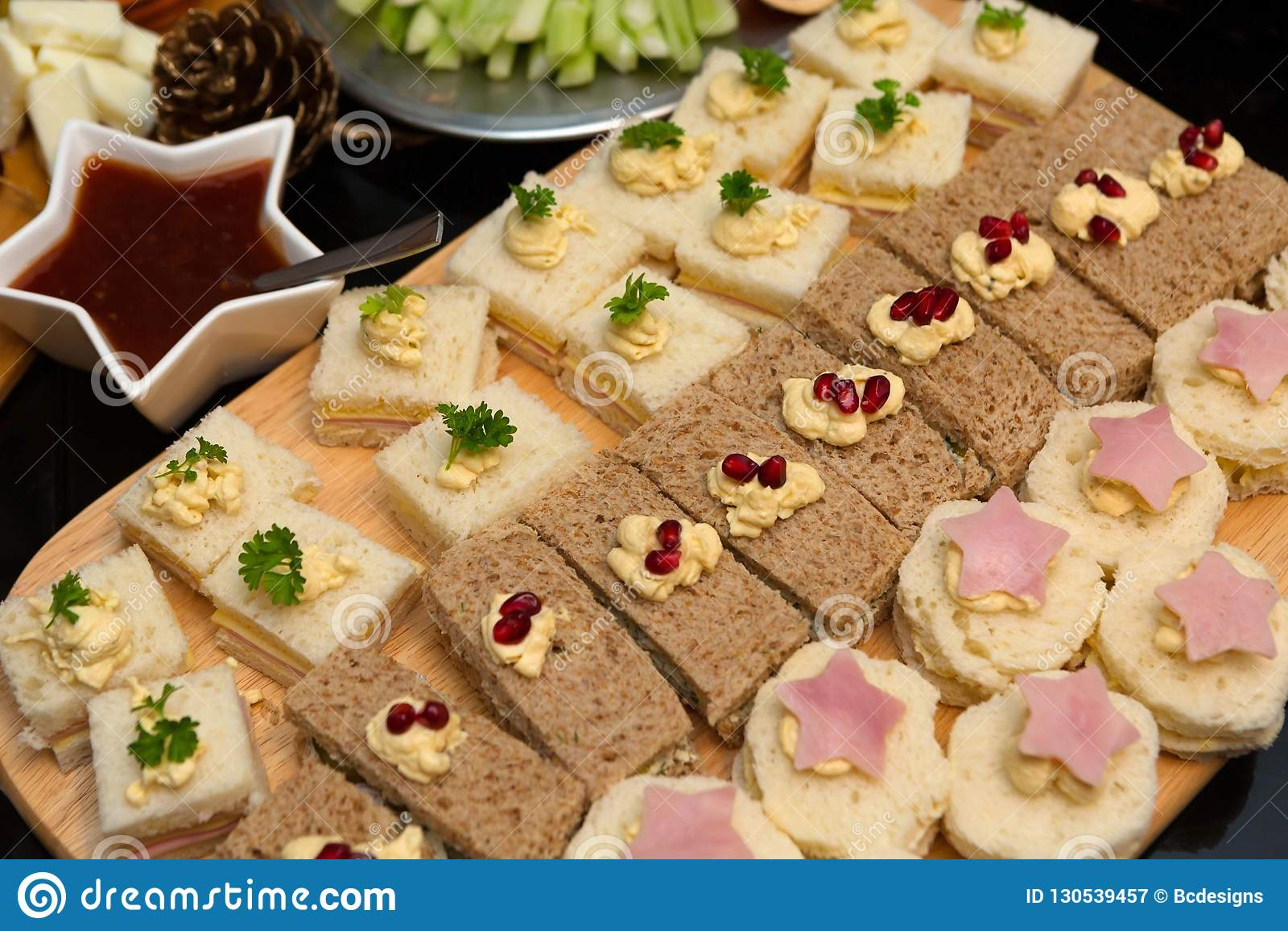 Tasty Afternoon Tea Sandwich Platter Stock Image Image Of