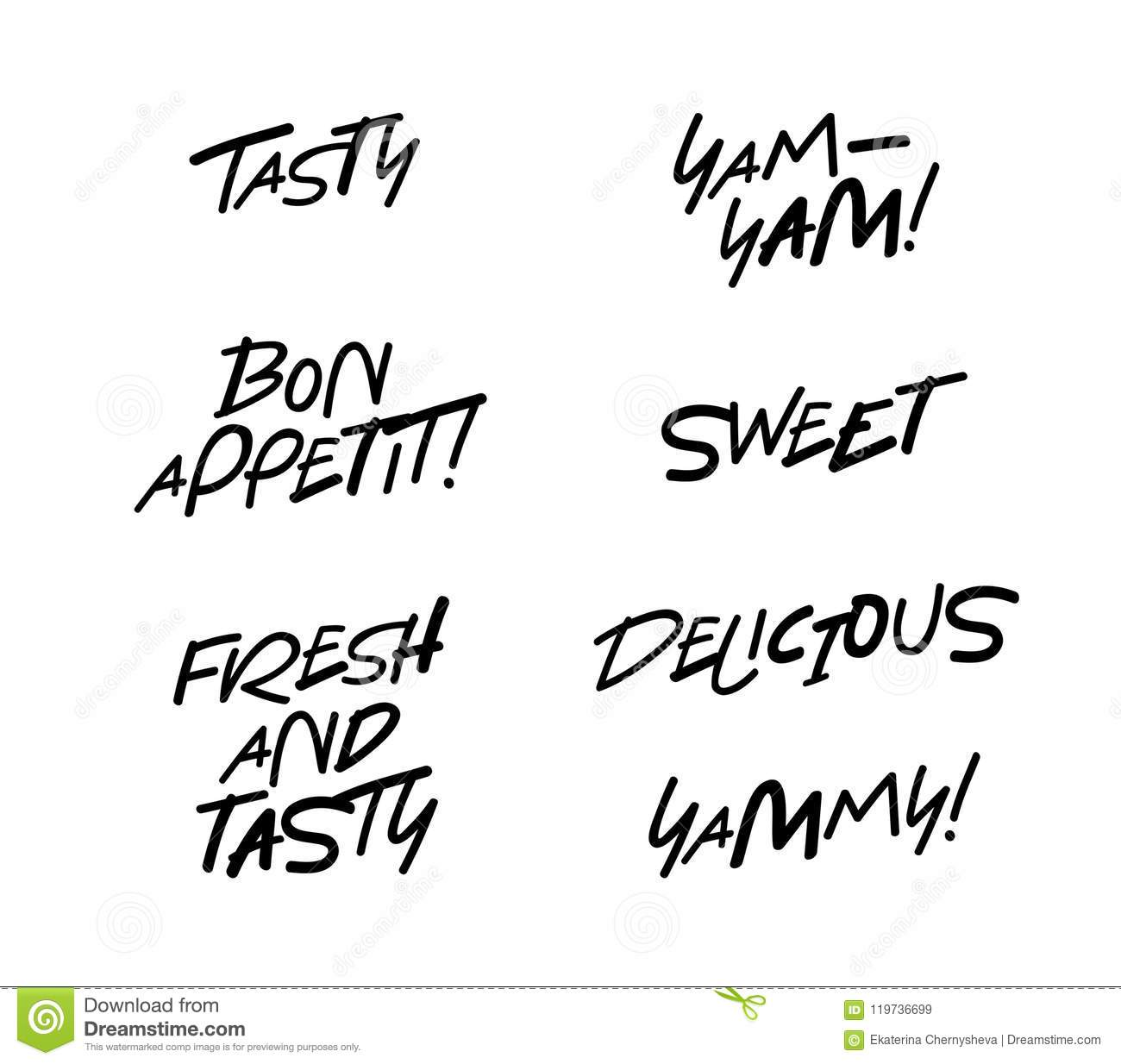tasty bon appetit fresh and delicious stock vector