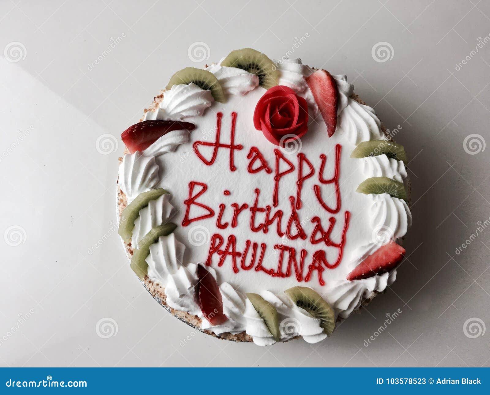 Happy Birthday Cake Stock Image Image Of Rose Decoration 103578523