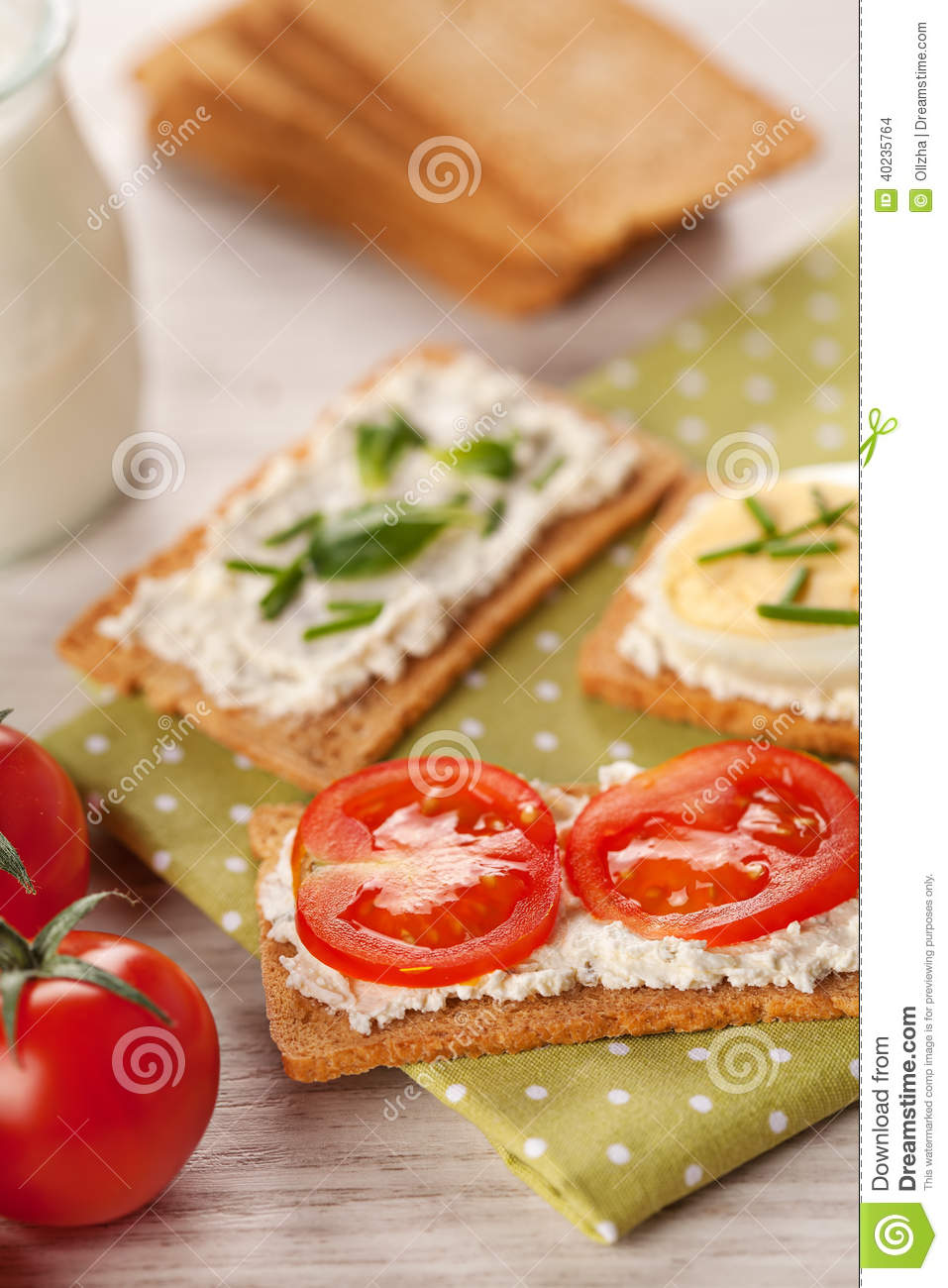 Tasty canapes breakfast snack meal stock photo image for Breakfast canape
