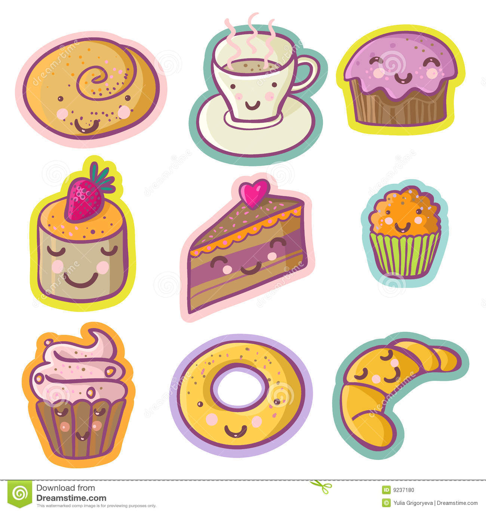 tasty cartoon set stock photo image 9237180