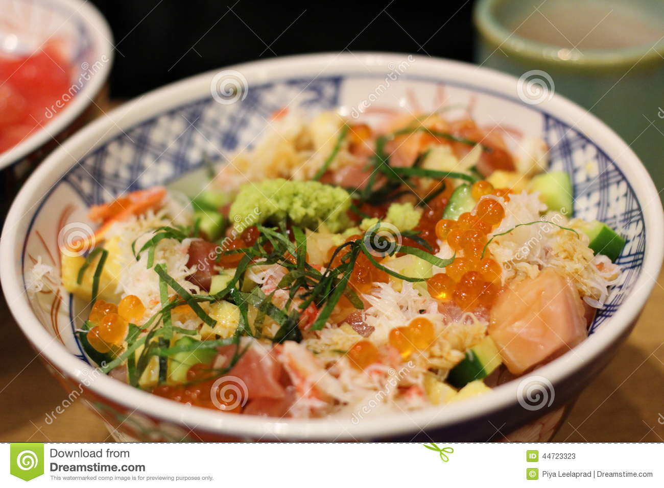 Tasty chirashi don stock photo image 44723323 for Cuisine western