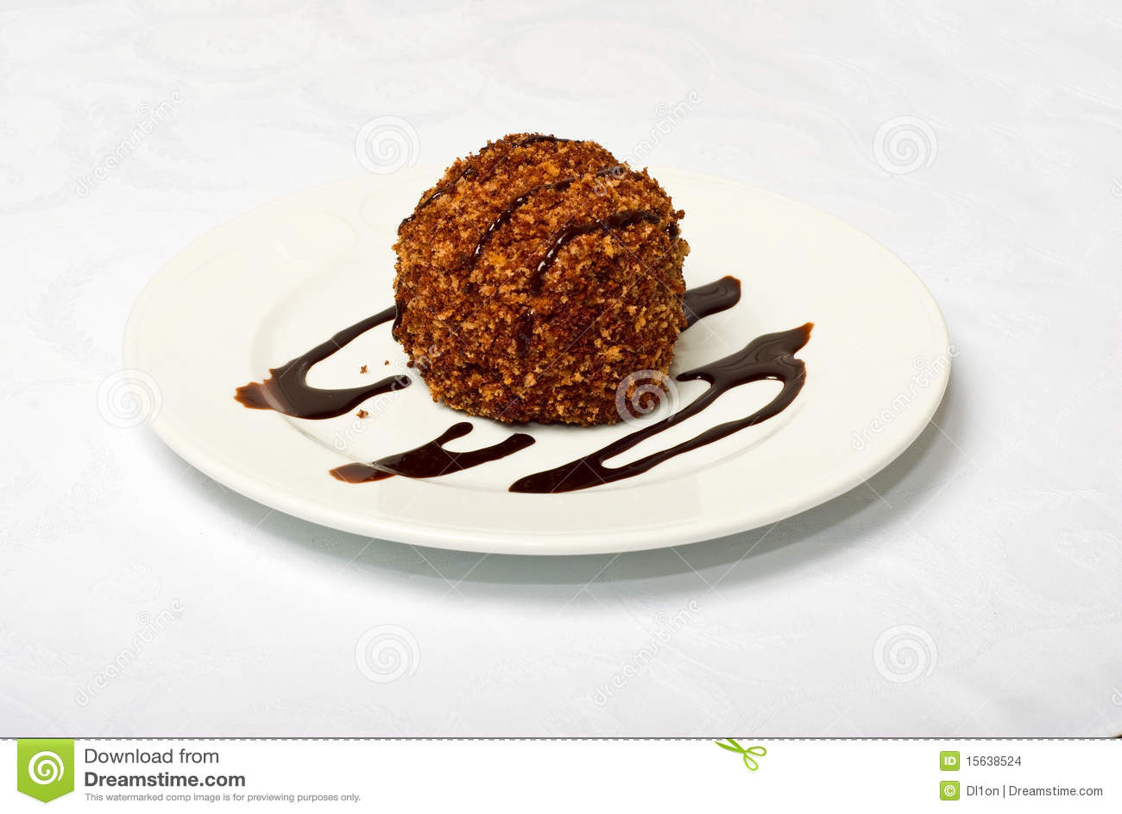 Tasty Chocolate Cake Images : Tasty Chocolate Cake On White Plate Stock Images - Image ...