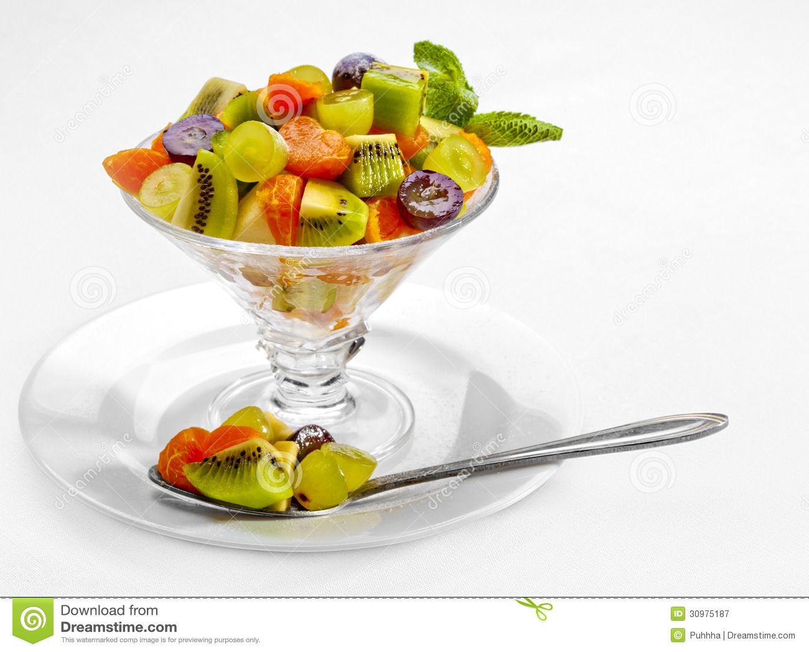 A Tasty Food. Fresh Fruits Salad. High Quality Image ...