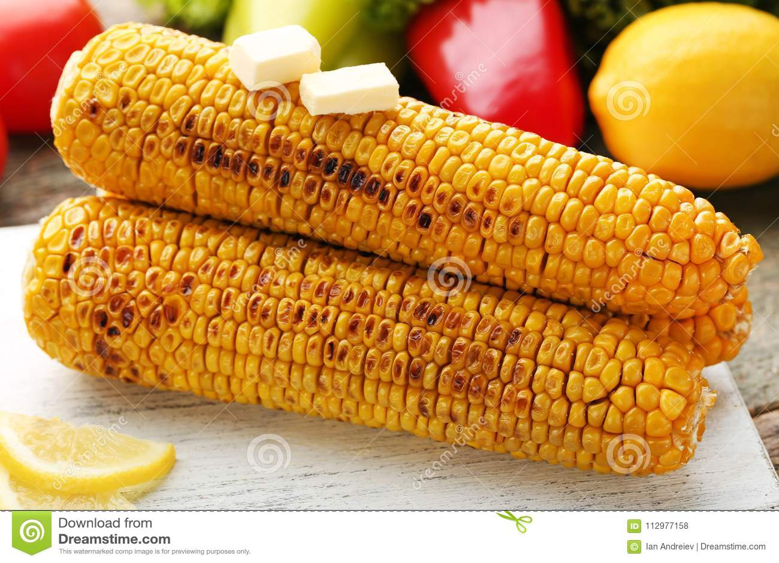 Tasty grilled corns