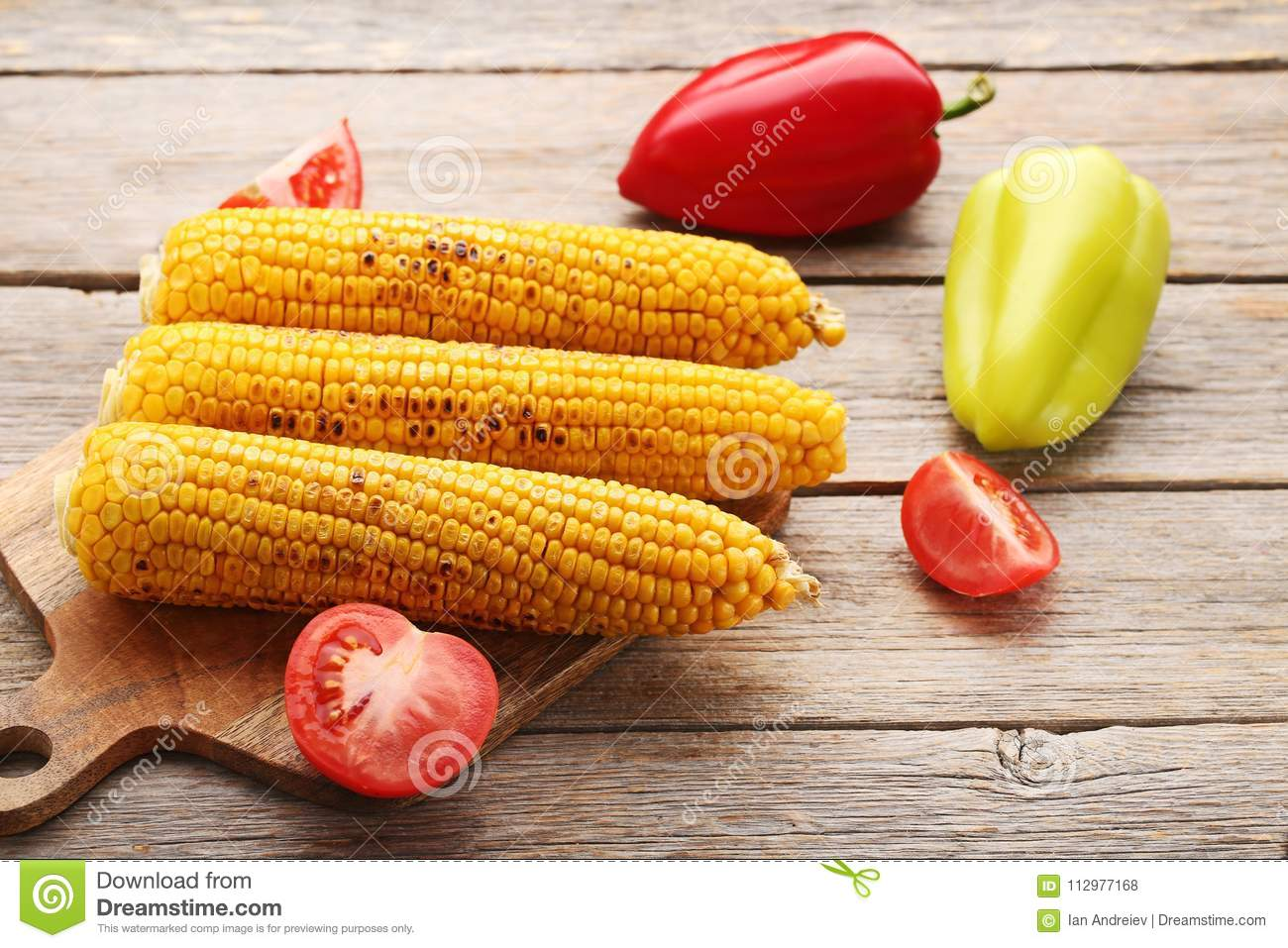 Tasty grilled corns